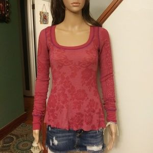 Free people L/S Henley top Sz-xs